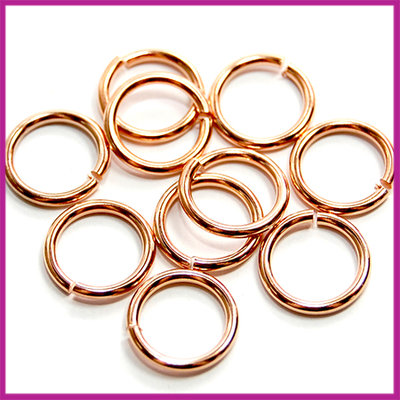 DQ metaal open ringetjes Ø10mm Rosegold