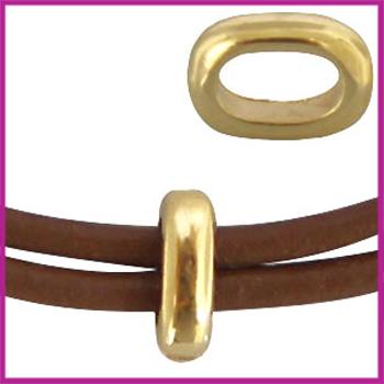 DQ metaal ovalen ring Goud