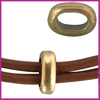 DQ metaal ovalen ring Brons