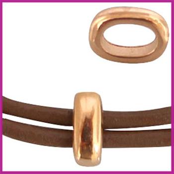 DQ metaal ovalen ring Rosegold