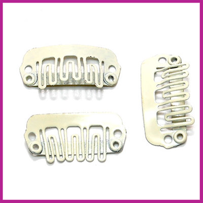 Mini snap haarclip 23x11mm Blond