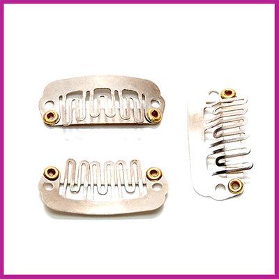 Mini snap haarclip 23x11mm Zilver