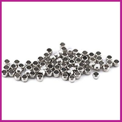 Knijpkralen ø2mm NPL antiek zilver
