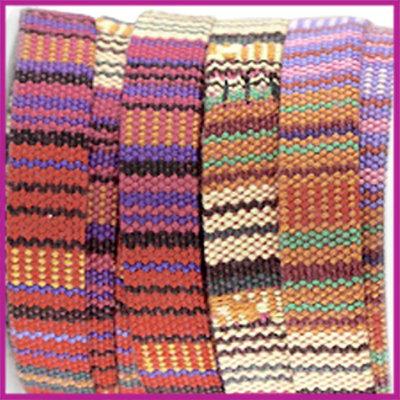 Aztec plat koord 10mm Rood roze per 10cm