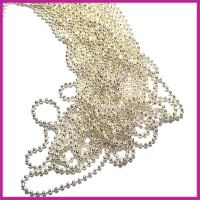 DQ Ballchain / bolletjesketting 1,2 mm SPL Silver plated per 10cm