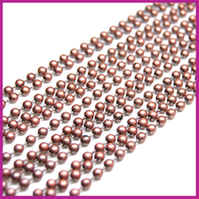Ballchain / bolletjesketting 3 mm MAC per 10cm