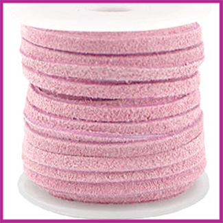 DQ leer suede 3mm Fragrant Pink per 50cm