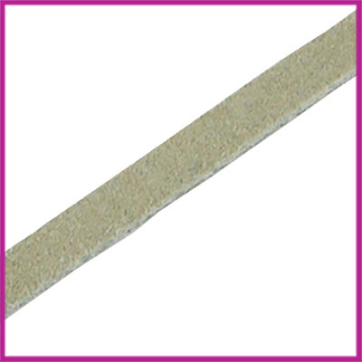 DQ leer suede plat 5mm Light moss green ca. 22,5cm