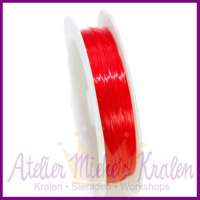 Elastisch nylon plat ø0,8mm rood
