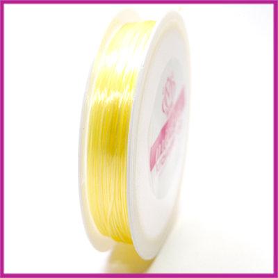 Elastisch nylon plat 0,8mm fel geel
