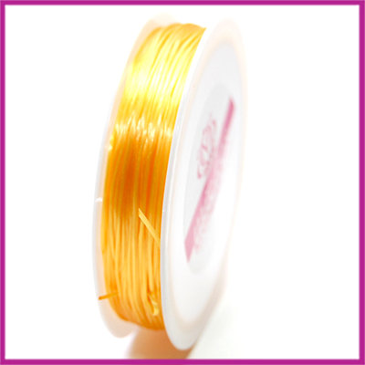 Elastisch nylon plat 0,8mm oker geel