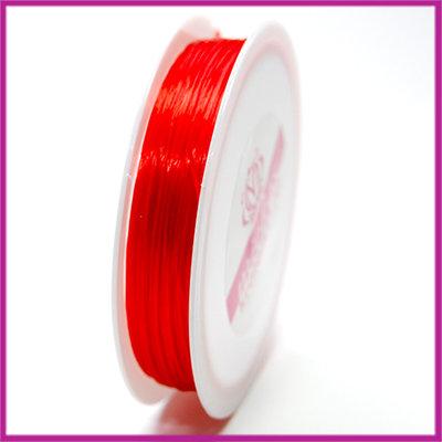 Elastisch nylon plat 0,8mm rood