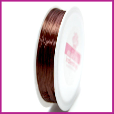 Elastisch nylon plat 0,8mm bruin