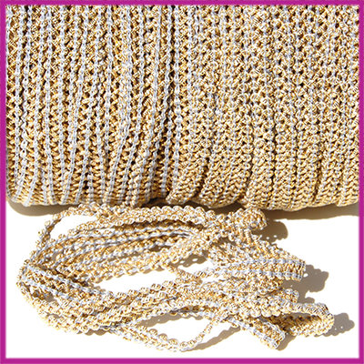 Fashion wire plat 5mm grijs - goud