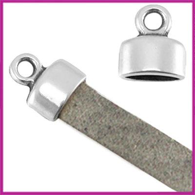 DQ metaal eindkapje ca. 9x8mm Antiek zilver