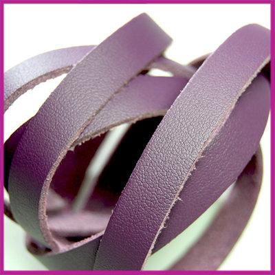 Imitatie leer band 10mm, 1,5mm dik Diep paars ca. 25cm