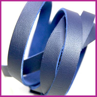 Imitatie leer band 10mm, 1,5mm dik Donker blauw ca 25cm