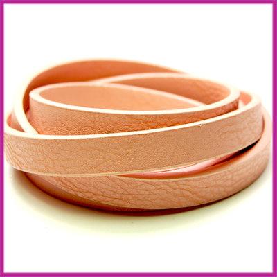 Imitatie leer band 11mm, 3mm dik Vintage roze per 20cm