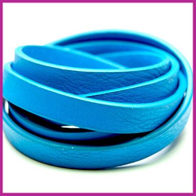Imitatie leer band 11mm, 3mm dik Blauw per 20cm