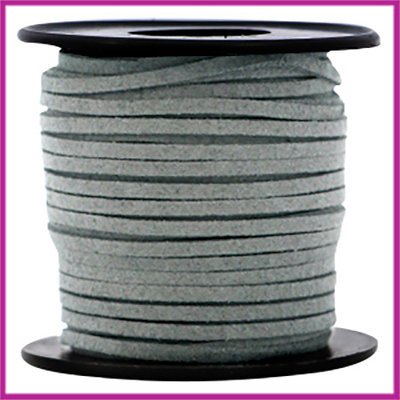 Imitatie suede veter 3mm Graphite grey per meter