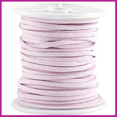 Imitatie suede veter 3mm Lila Purple per meter