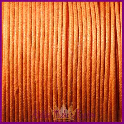 Katoenkoord ø1mm oranje per meter