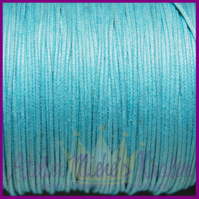 Katoenkoord ø1mm licht turquoise per meter