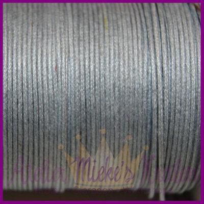Katoenkoord ø1mm grijs per meter