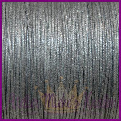 Katoenkoord ø1mm grijs metallic per meter