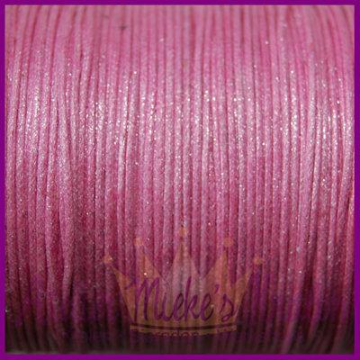 Katoenkoord ø1mm roze metallic per meter
