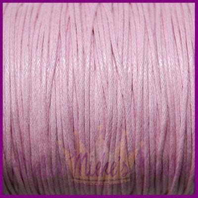 Katoenkoord ø1mm licht roze per meter