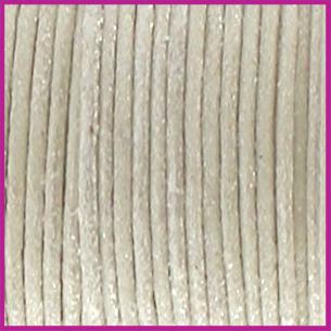 Waxkoord (katoen) ø1mm Off white metallic per meter