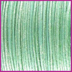 Waxkoord (katoen) ø1mm Licht turquoise blauw metallic per meter