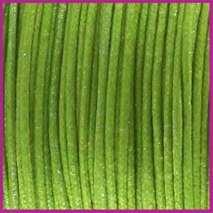 Waxkoord (katoen) ø1mm Fern green metallic per meter