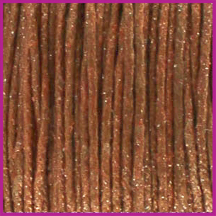 Waxkoord (katoen) ø1mm Copper brown metallic per meter