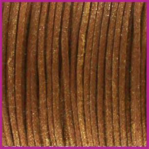 Waxkoord (katoen) ø1mm Golden brown metallic per meter