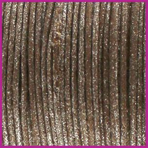 Waxkoord (katoen) ø1mm Brown metallic per meter