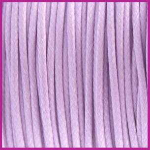 Waxkoord (polyester) ø1mm Lila paars per meter