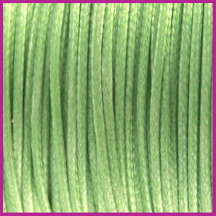Waxkoord (polyester) ø1mm Deep chrysolite green per meter