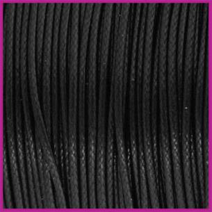 Waxkoord (polyester) ø1mm Zwart per meter