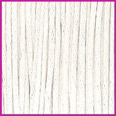 Waxkoord (katoen) ø1mm Off white per meter