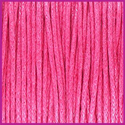 Waxkoord (katoen) ø1mm Hot pink per meter