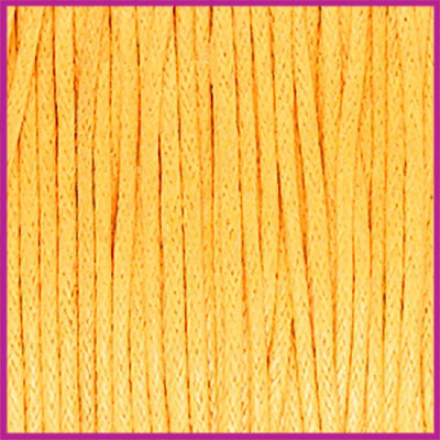 Waxkoord (katoen) ø1mm Sunflower yellow per meter