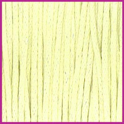 Waxkoord (katoen) ø1mm Pastel yellow per meter