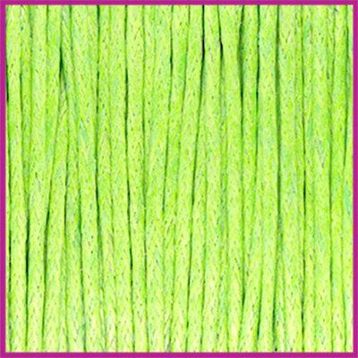 Waxkoord (katoen) ø1mm Fern green per meter