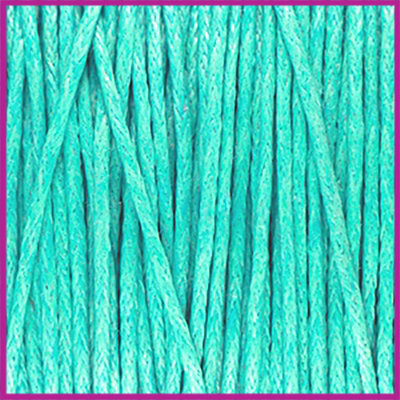 Waxkoord (katoen) ø1mm Turquoise per meter