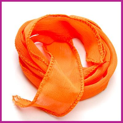 Lint voor een wikkelarmband 30mm Fel oranje ca. 1 meter