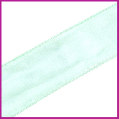 DQ zijde lint 30mm Mint groen