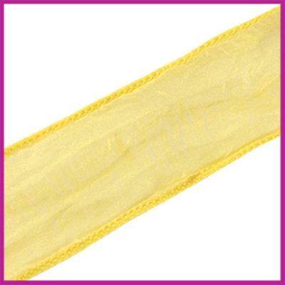 DQ zijde lint 30mm Geel goud