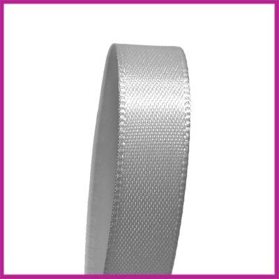 Satijnlint 10 mm grijs per meter